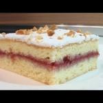Бисквитное пирожное с вареньем видео рецепт