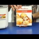 Круглый украинский хлеб в хлебопечке