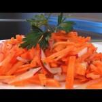 Салат из редиса и моркови видео рецепт